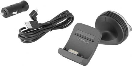 TomTom Click and Go Mount Car Charger and USB Cable, Black